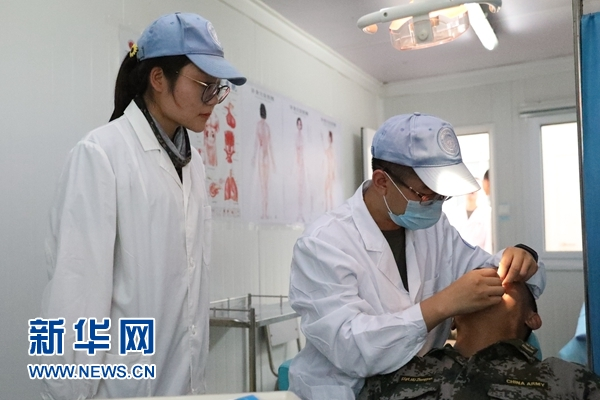 中国第九批赴南苏丹维和医疗分队开展健康巡诊